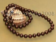 "NEW genuine 8-9mm chocolate cutlured pearl necklace 17"", 18"", 19"", 20"", 21"", 22"""