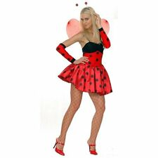 SEXY LADYBUG LADYBIRD FANCY DRESS COSTUME OUTFIT ADULT LADIES IN SIZE S M L XL