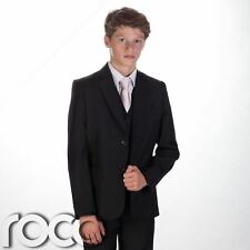 Boys black suit, Boys page boy outfit, Boys 5 piece suit, Boys Wedding Suit