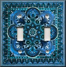 Light Switch Plate Cover - Italian Tile Pattern - Fiore - Blue - Home Decor