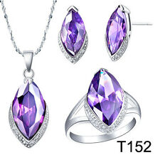 COOL Topaz Amethyst Silver necklace / finger ring / earring / set (choice)