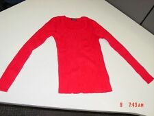 NWT Womens George Scoop Neck Power Ribbed Sweater Red