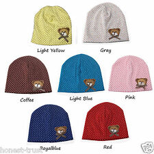 Kids Hats Baby Beautiful Girls/Boys Infant  Cotton knit Beanie Baby Cap Hat Kit