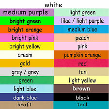 100 ~ 4x7 or 5x7 Index Cards Color Cardstock Blank Unruled Colored Card Stock