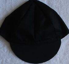 BLANK BLACK CYCLING CAP NEW BIKE RIDE HAT SOLID OR 3 RIBBON CHOICES !!***