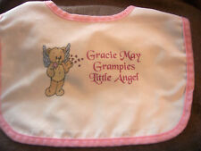 Personalised Baby Bibs*Christening*New Born*Any Text*Photo*GIFT WRAPPED*FREE P&P