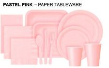 PASTEL PINK Tablecovers Napkins Party Bags Streamers Plates Cups Decorations