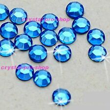 Light Sapphire Iron On Flatback Hotfix Crystal Glass Bling Diam​ante Rhinestones