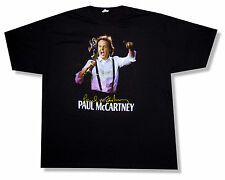 "PAUL MCCARTNEY ""LAS VEGAS EVENT 2011"" BLACK T-SHIRT NEW OFFICIAL TOUR BEATLES"