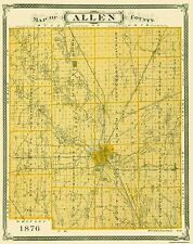 Old County Maps - ALLEN COUNTY INDIANA (IN) LANDOWNER MAP 1876