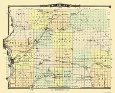 Old County Maps - ST. CROIX COUNTY WISCONSIN (WI) LANDOWNER MAP 1878