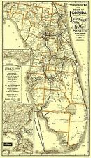 JACKSONVILLE TAMPA & KEY WEST RR MAP BY MATTHEWS NORTHRUP & CO 1891