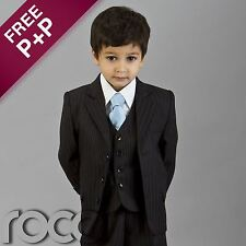 Boys Navy Pinstripe Wedding Suits Navy Prom Suits Page Boys Suits Age 1 - 13 yrs