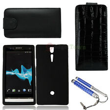 New Case Cover for Sony LT26i Xperia S Black + Touch Pen Stylus