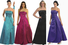 17 COLOR LONG GOWN PAGEANT PROM  COCKTAIL DRESS BRIDESMAIDS` FORMAL GOWN 4 TO 26