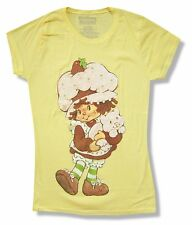"""STRAWBERRY SHORTCAKE """"GIRL"""" YELLOW BABY DOLL T-SHIRT NEW OFFICIAL JUNIORS"""