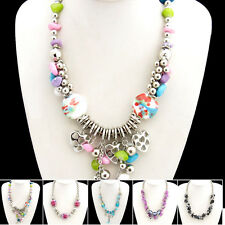 Buy 2 Get 1 Free, Crystal Ceramics Shell Flower Necklace Bangle XB111