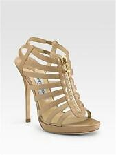 Jimmy Choo GLENYS Leather Cage Strappy Gladiator Platform Sandal Shoes Nude $995