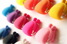 2X Colorful Candy Girl Rubber Korean Colorful Silicone Coin Bag Purses Wallets