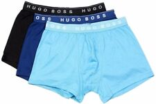 Hugo Boss Men's 3-Pair 100% Cotton Boxer Shorts BM Blue Assorted Underwear