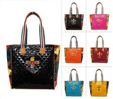 Beautiful Floral Cross Quilted Diamond Pattern Large Handbag