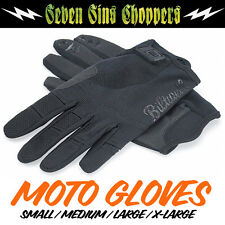 Biltwell Motorcycle Riding Gloves Black Chopper Triumph Harley CHOOSE SIZE S-XL