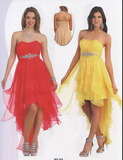 5 COLOR COCKTAIL STRAPLEES HOMECOMING SHORT PROM FORMAL DRESS BALL GOWN 4 To 16