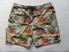 NWT Mens HURLEY Hawaiian Floral Board Shorts Swim Surf Trunk Cool By The Pool