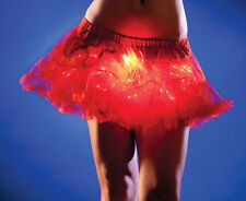 Red Petticoat or Man TUTU with Red Light Up LED Fiber Optics Burning Tuesday EDM