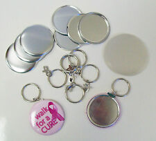 "1-3/4"" Tecre SPLIT Key Chain Button Parts for Button Maker Machines 1.75 Inch"