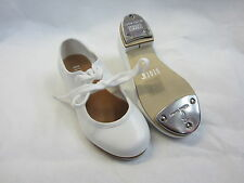 bloch 330 timestep pu low heel tap shoes white heel and toe taps child size
