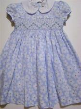 CARRIAGE BOUTIQUES  SMOCKED BLUE FLORAL PRINT DRESS~2T,3T,4T~NWT'S
