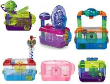 CRITTERTRAIL HAMSTER, GERBIL HABITAT CAGES. ONE LEVEL, PINK, EXTREME, DAZZLE