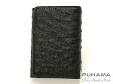 PUHAMA PF20 Hand-Stitched Handmade Personalized Ostrich Leather Key Case Wallet