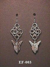 Fairy Earrings Chainmail Pagan Wicca Maille Chainmaille Angel Winged Fantasy