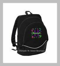 Personalized Music Notes Backpack Musical Note Book Bag Back to School Musician