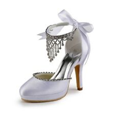 Custom Made US Size5-10 Rhinestone Design Wedding Bridal Bridesmaids Women Shoes