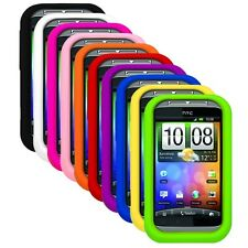 Silicone Rubber Soft Skin Cover Case for HTC Wildfire S (T-Mobile Only)