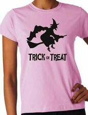Witch Halloween Fancy Dress Ladies  T-Shirt  Size S-XXL