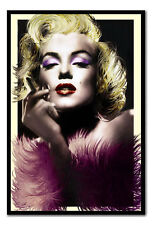 Marylin Monroe Art Deco Feathers Framed Cork Notice Board WIth Pins