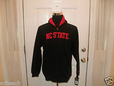 New Youth (All Sizes) North Carolina State Black Full Zipper Hooded Sweatshirt