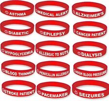 MEDICAL ALERT BRACELET-Rubber Alert Bracelets in Different Conditions-You Choose