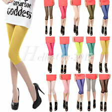 15 Candy Colors Fashion Mesh Cropped Capri Shorts Tights Pants Bottoms