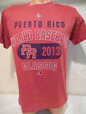 5225 TEAM PUERTO RICO 2013 WORLD BASEBALL CLASSIC Baseball Jersey Shirt RED