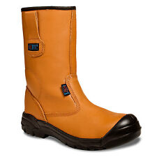 MENS LINED RIGGER BOOT PLUS STEEL TOE CAP SAFETY WORK BOOTS ST SIZE 5-13