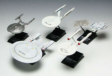 STAR TREK 1/2500 scale STARSHIPS Defiant, Enterprise NX, NX mirror, 1701& 1701 A