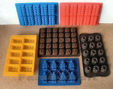 LEGO SILICONE MOULDS CHOCOLATE FLOWERS PARTY ALPHABET CAKE TOPPER ICE JELLY MOLD