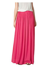 sk78 Celeb Style Pastel Flowy Volume Candy Coloured Pleated Maxi Long Skirt