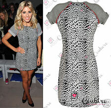 Womens Celeb Style Leopard Animal Print Tribal Shift Ladies Bodycon Tshirt Dress