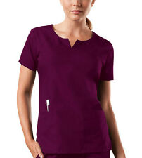 Wine Cherokee Workwear Round Neck Scrub Top 4824 WINW
